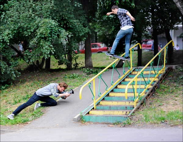 Андронов Марк  -  frontside boardslide