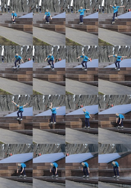Храмков Леша  -  frontside shove-it backside nosegrind